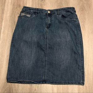 Christopher and Banks Petite Denim Skirt